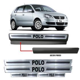 Soleira Premium Resinada Prata Com Vinil Volkswagen Polo