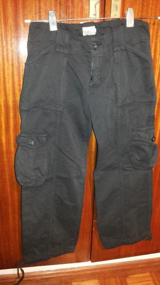 Pantalon Cargo Color Negro Girl