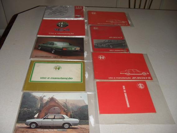 Alfa Romeo - Manual Proprietário Vários Modelos E Anos -