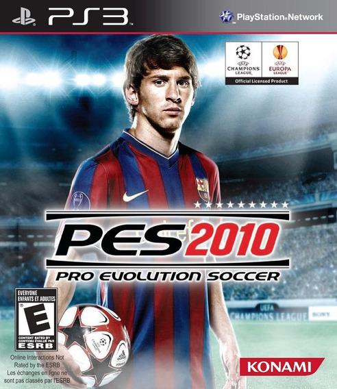 Jogo Pro Evolution Soccer 2010 Playstation 3 Ps3 Frete Gráti