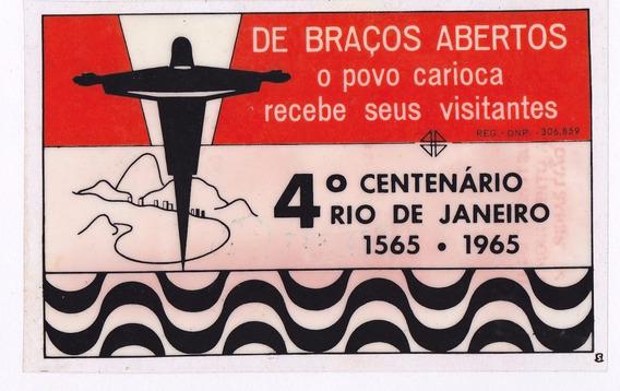6 Plásticos Antigos (carro) - 4° Centenário Rio De Janeiro