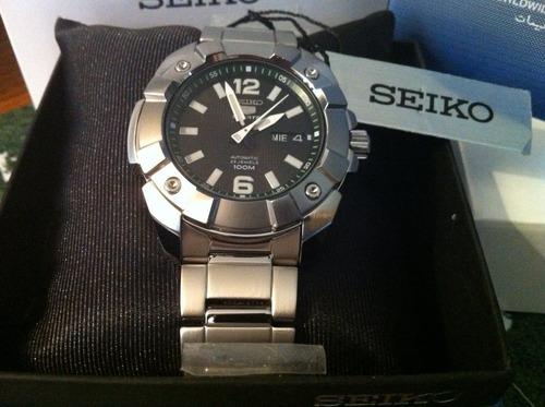 (clubhouse44) Reloj Seiko 5 Diver Black Modelo Snzg29k1 Auto