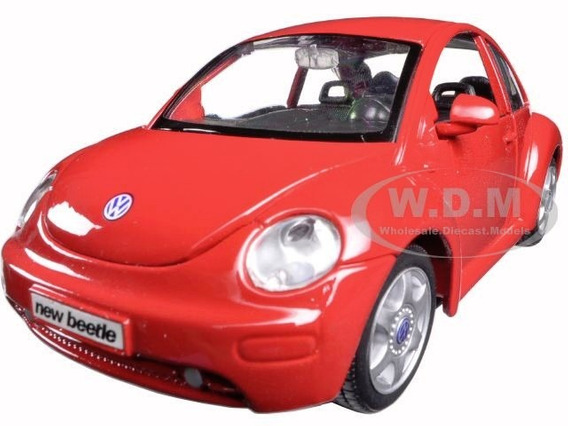 Vw New Beetle Maisto 1:24 Carros Miniaturas Réplicas Fusca