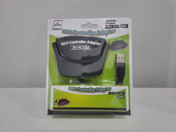 Adaptador Usb P/ 2 Controle N64 Nintendo 64 P/ Pc Dual N64