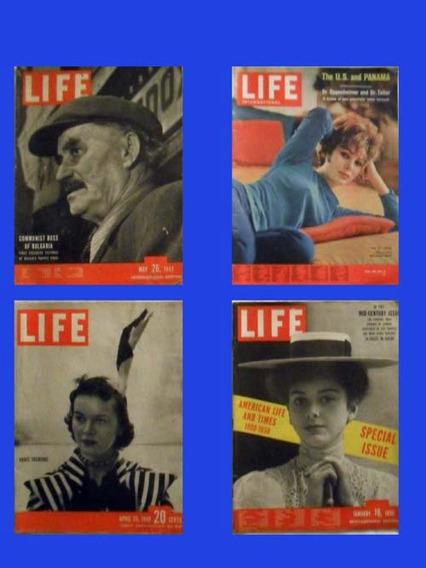 Revistas Life Americana Raríssimas 1947 1949 1950 1965.