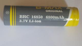 4 Bateria Li-ion B-max Original 3.7v 16850 6800 Mah Lanterna