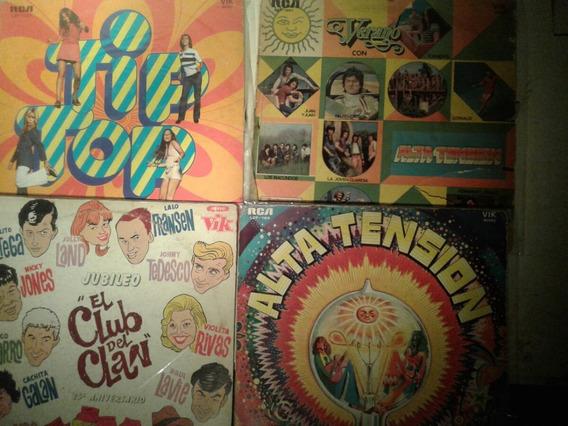 Lp Lote 4 Discos Coleccion Club Del Clan Alta Tension Nacion