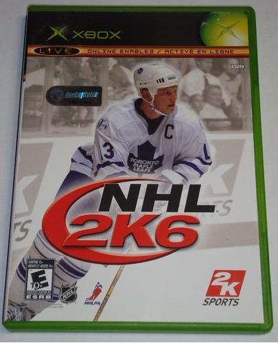 Juego Original Nhl 2k6 Xbox Disco Usado Ntsc Consola Oferta