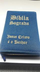 Bíblia Sagrada Edição Especial Em Camurça Bíblia Noivo Azul