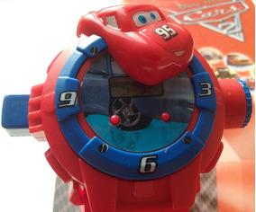 Relógio Infantil Com Projetor Imagem Do Carros Mcqueen