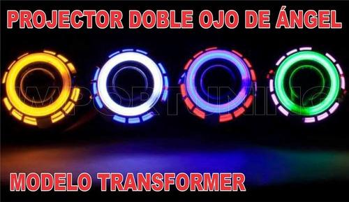 Imagen 1 de 9 de Ojo De Angel Con Luz Diablo + Foco Hid Philips - Solo Ventas