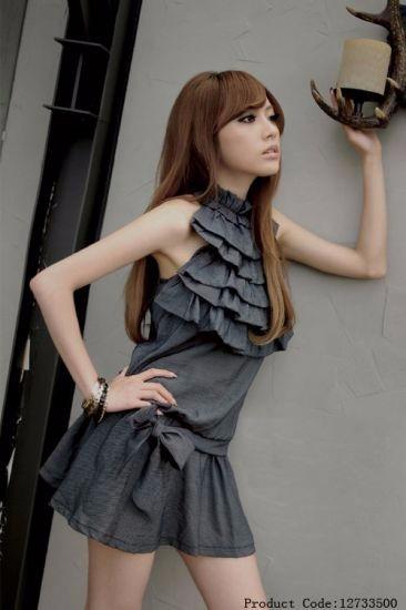 Hermosa Blusa Moda Asiatica Color Gris