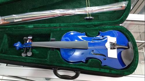 Violin 3/4 4/4 Con Estuche Correa Resina Nuevos De Paquete