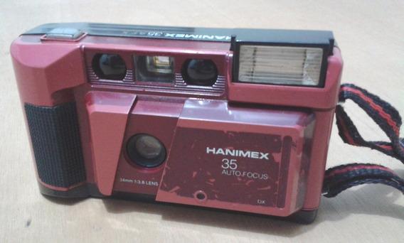 Câmara Fotográfica Hanimex 35afx - Peça De Colecionador