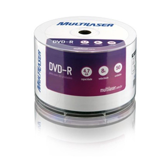 Midia Dvd -r Vel. 08x - 50 Un. Shrink P.plus Multilaser Dv05