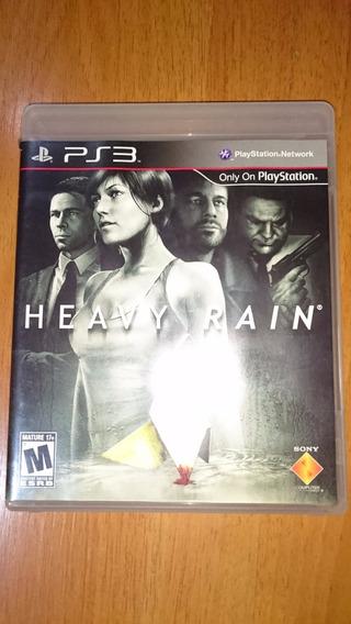 H4j45 Ps3 Heavy Rain Box Original Perfeito