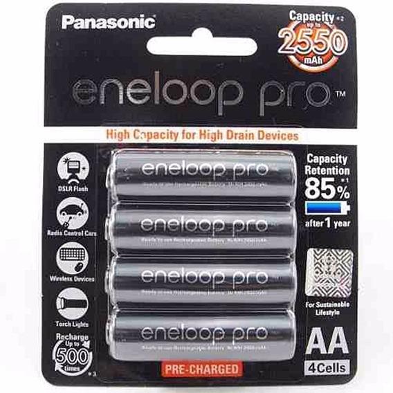 4 Pilhas Eneloop Pro Panasonic Aa 2550mah Original F. Japão