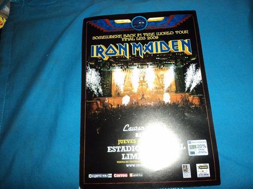 Iron Maiden Flyer En Lima Peru