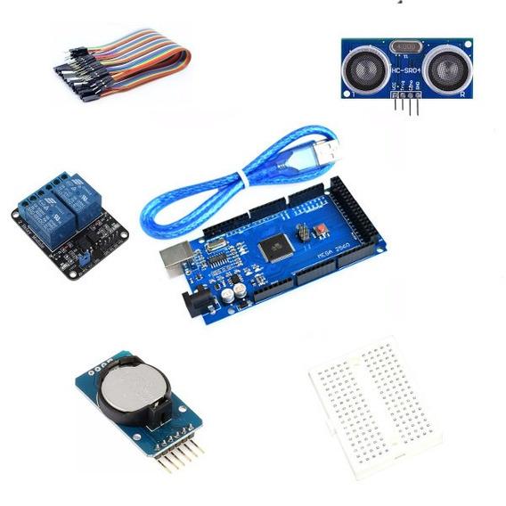 Kit Placas Para Arduino Mega +sensor +time Clock+ Relé+cabos