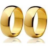 1 Aliança 4mm Chapeada A Ouro 24k E Certificado De Garantia