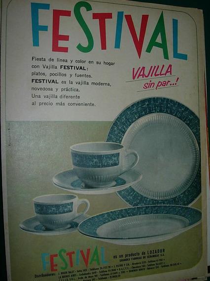 Publicidad Clipping Vajilla Festival Platos Tazas Lozadur