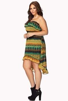 Vestido Strapless Forever 21+ Talle Xl Importado Usa - 3747