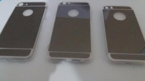 Capa Espelhada Preta Para iPhone 5, 5s, Se, 6, 6s E 7