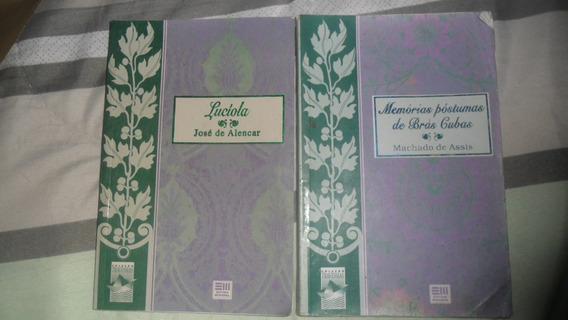 Lote 2 Livros: Lucíola / Memórias Póstumas De Brás Cubas