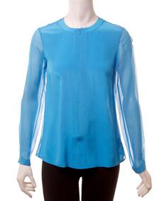 Blusa Azul Tibi