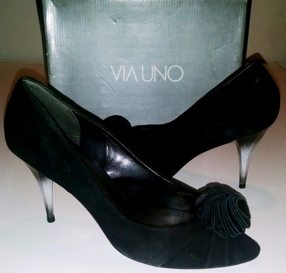 Zapatos De Gamuza, Vía Uno N° 39. Impecables!!!