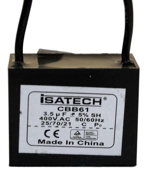 Capacitor Marcha Cuadrado De 3,5 Uf 400v 50/60hz Isatech