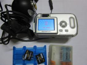 Câmera Olympus D390 + Acessórios + Webcam (envio Grátis)