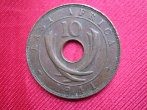 Imagen 1 de 2 de East Africa 10 Cent 1941