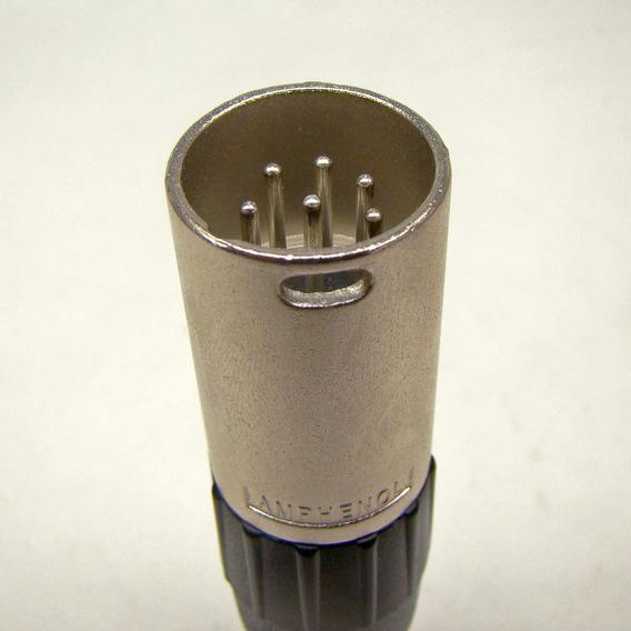 Conector Xlr 6 Pinos Macho E Fêmea Prata Amphenol 1 Par