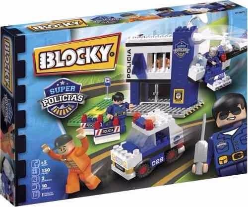 Blocky Policias Comisaría 150 Piezas Set De Bloques