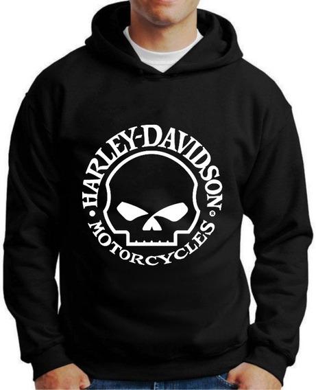 Blusa Moletom Harley Davidson Capuz E Bolso