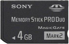 Memory Pro Duo Original Sony 4gb Mark2 Para Psp + Brindes