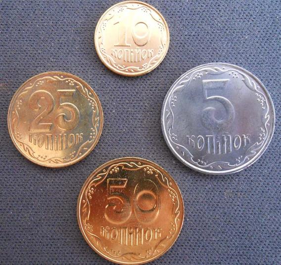 Ucrania - Set De 4 Monedas Años 2008 Al 2011 - Sin Circular