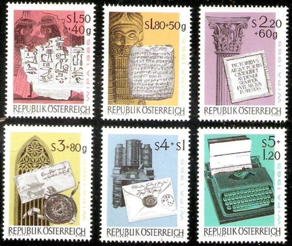Escrituras - Mensajes. Serie Mint Compl 1020/25. Austria´65