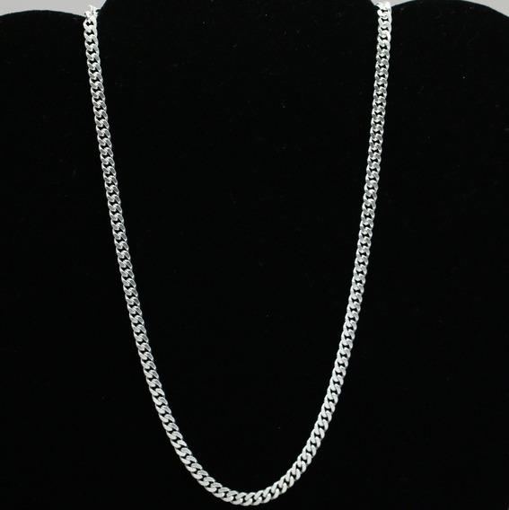 Corrente Feminina De Prata Maciça Gargantilha Com 45cm