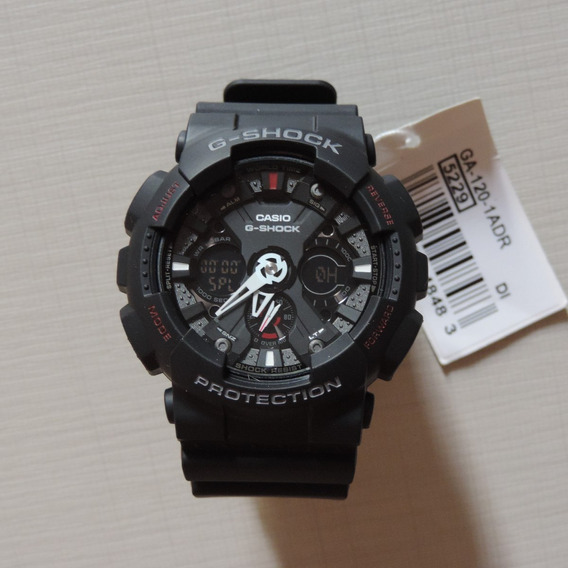 Relógio Casio G-shock Ga-120-1ad Masculino Visor Preto Lindo