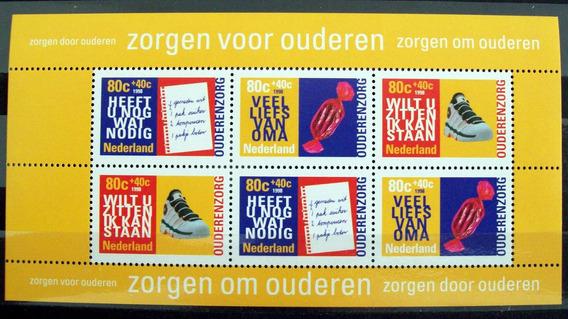 Holanda, Bloque Sc. B707a Cuidado Ancianos 1998 Mint L6004