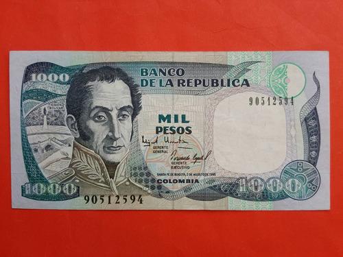 Billete De 1000 Pesos 1995 Colombia.