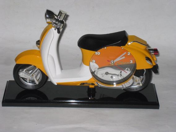 Bonito Reloj De Motoneta Moto Despertador De Escritorio Mesa