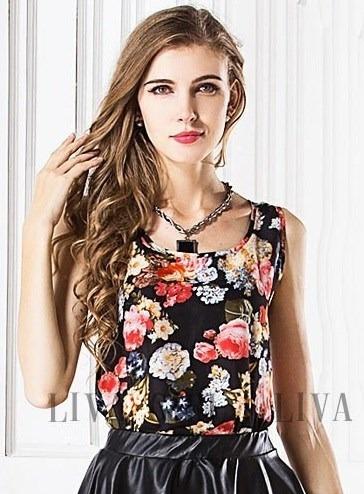 Blusa Flores Talla Standard 34b Nueva Importada En Stock