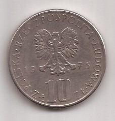 Polonia Moneda De 10 Zlotych Año 1975