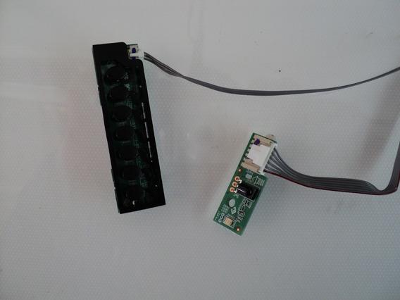 Teclado + Sensor Semp Toshiba 32l2400 40l2400 Novo