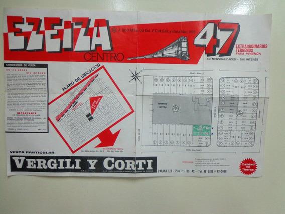Afiche Venta De Terrenos En Ezeiza - Ferrocarril