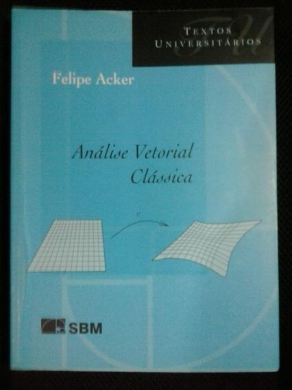 Livro Universitário Análise Vetorial Clássica , De Acker