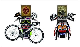 Suporte Bike / Moto E Acessórios (capacete, Luvas, Óculos..)